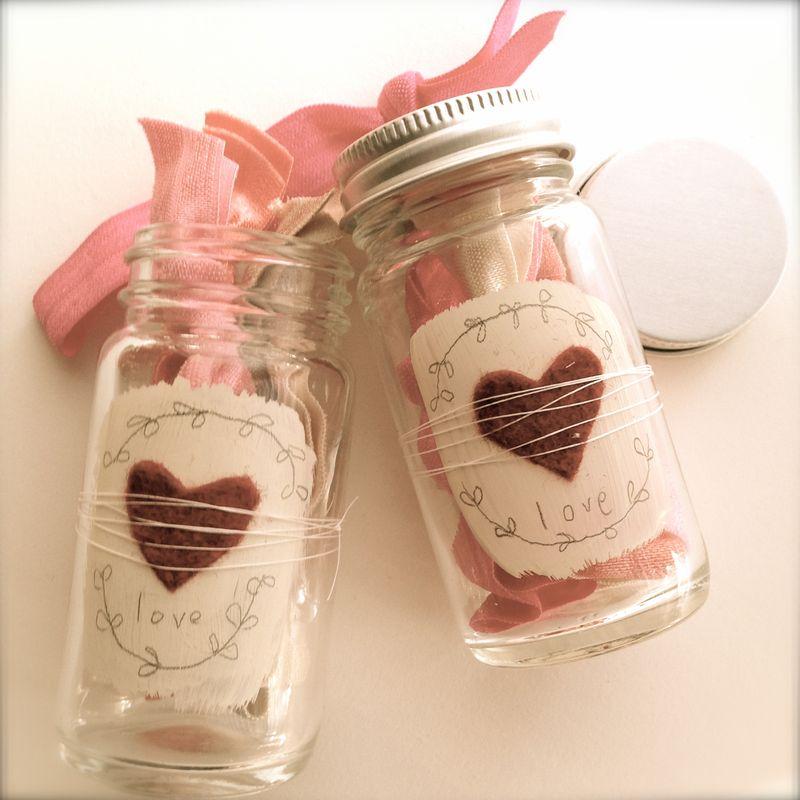 Valentines day jars