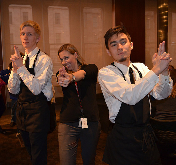 Secret Agents from South Lakes High School's Culinary Arts Program provided catering.