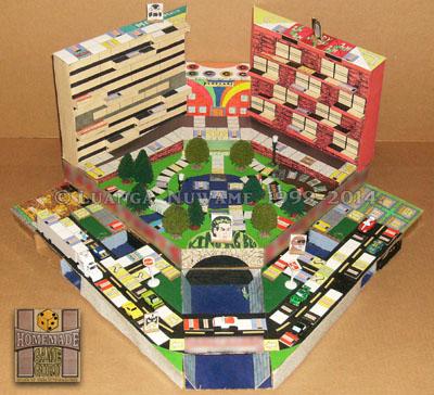 The original 1999 handmade board game design by Luanga Nuwame.