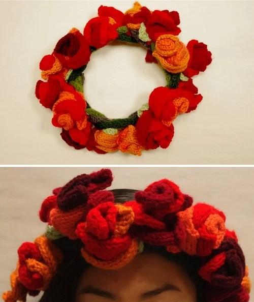 Knit Flower Crown Make