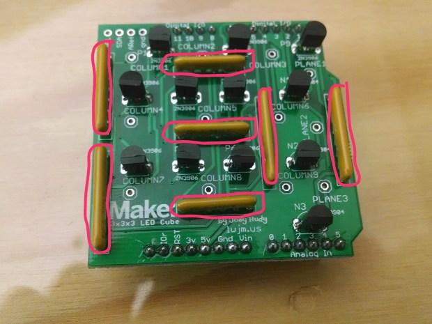 Build the 3x3x3 LED Cube Arduino Shield