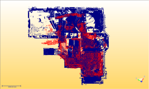 In red, Tango; in blue, Trimble TX8