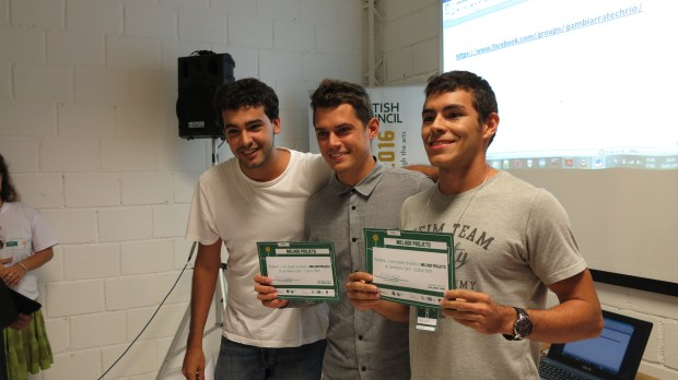 The winners of the Rio hackathon.