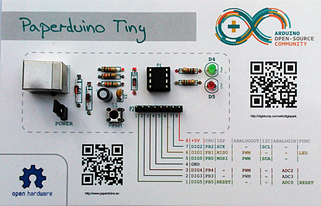 Building an arduino out of paper make