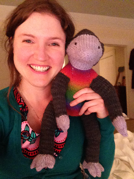 Joris knitted creature