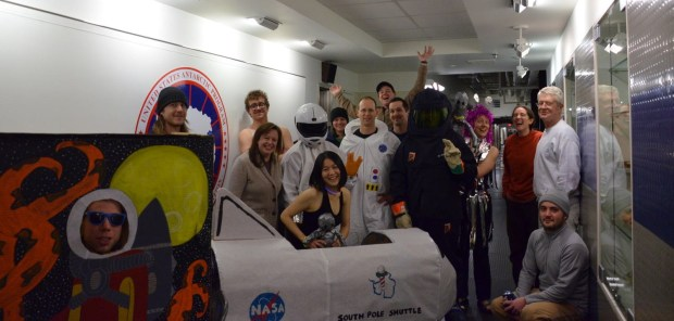Celebrating Yuri's Night at the South Pole