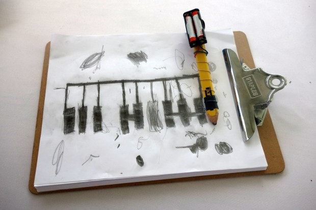 "A version of the ""Drawdio"" Musical Pencil was getting a lot of attention this weekend."