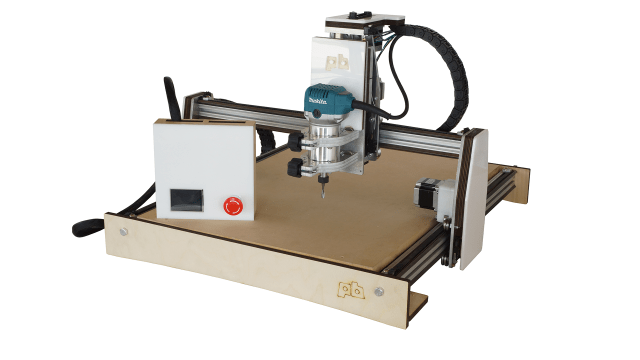 A prototype of Printrbot's new CNC machine. The final model will be constructed of folded and machined metal. (Photo: Dave Hays)