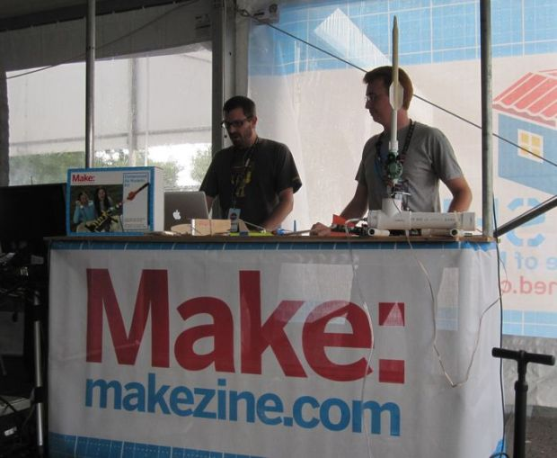 Keith and Rick presenting at Maker Faire New York where the met in person for the first time