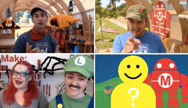 Hosts Nick Raymond (2012, top left), Em Mota (2013, top right), Paloma Fautley (Halloween, with Karlee Tucker as Luigi), and YOU (2014)!