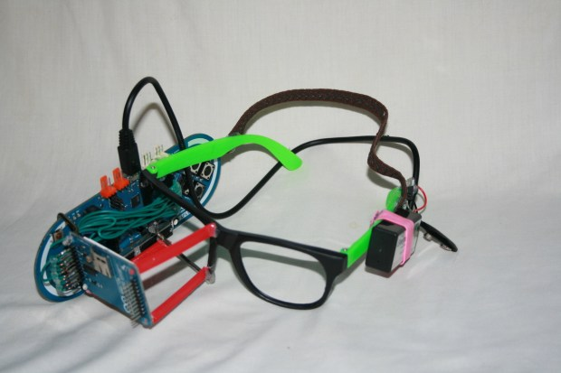 13-year-old Clay Haight made his own wearable smart glasses, inspired by Google Glass.