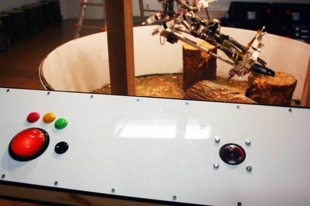 Fig. 4: Arcade game robotic controls