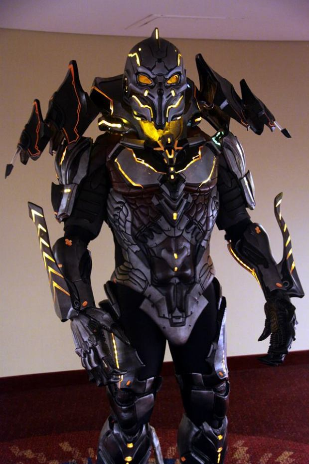 David Carpenter's Didact costume complete down to the smallest detail