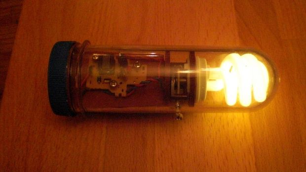 Junophor's steampunk Emergency Light makes use of disposable camera electronics