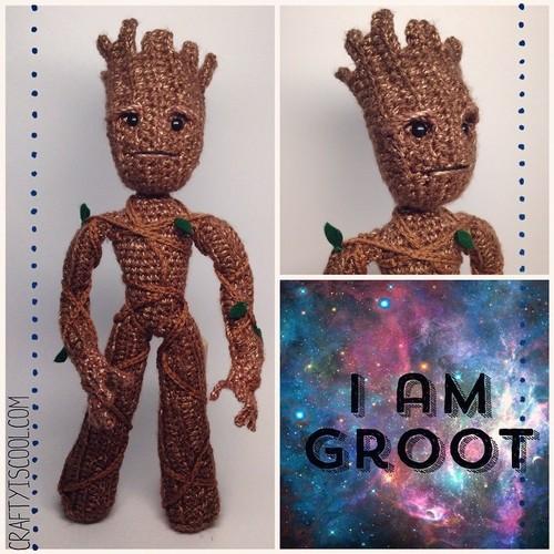 Baby Groot Stuffy pattern by Corryn Schock | Horgolás, Kötés, Rajzok | 500x500