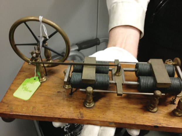 Patent model of the 1854 Page motor, US Patent #10480.