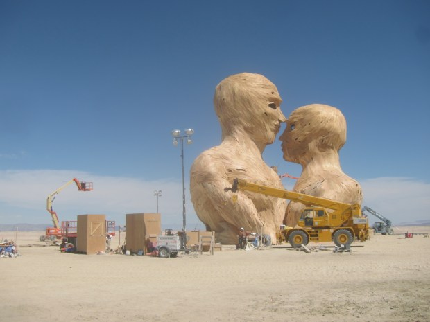 Embrace, one of the largest sculptures at Burning Man this year