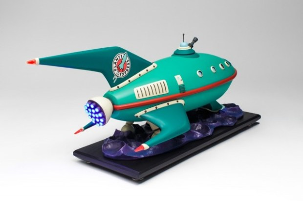 Volpin Props' replica Planet Express ship from Futurama, down to the last detail.