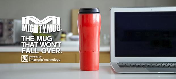 Red Mighty Mug Go Kitchen Logo Banner