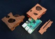 Laser Cut RPi Case Disassembled