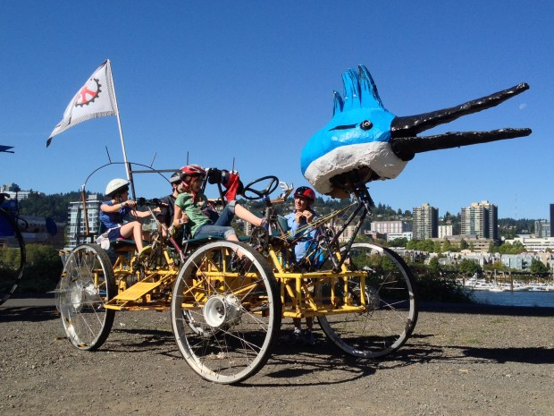 Pedal-powered Sculpture from DaVinci Days' Graand Kinetic Challenge