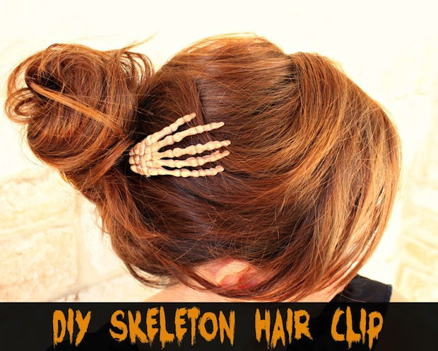 skeleton hair clip
