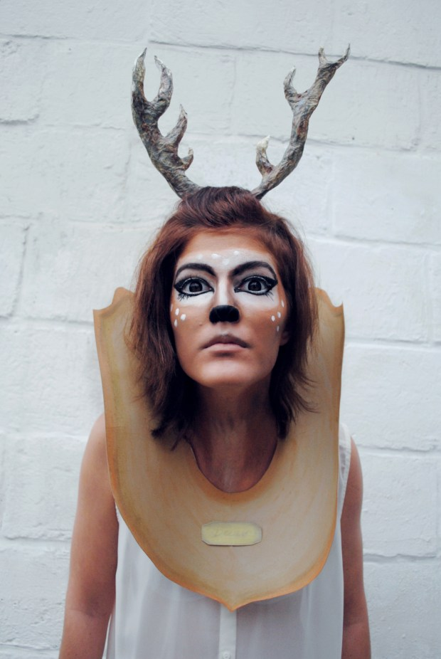 taxidermy deer head costume make. Black Bedroom Furniture Sets. Home Design Ideas