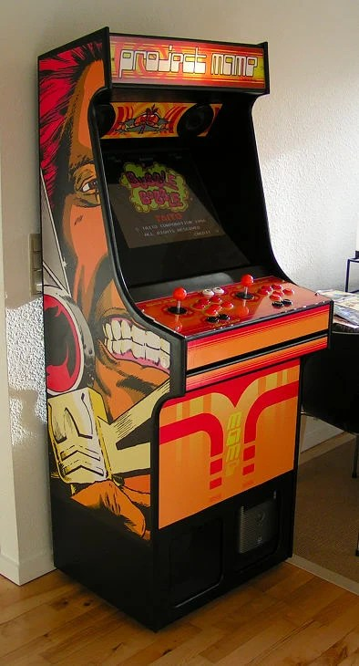 10 diy arcade projects that youll want to make make rasmus koenig sorensens project mame arcade cabinet with thundercats side art malvernweather Gallery