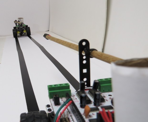 A double length of foam board gives our knights plenty of room to work with.