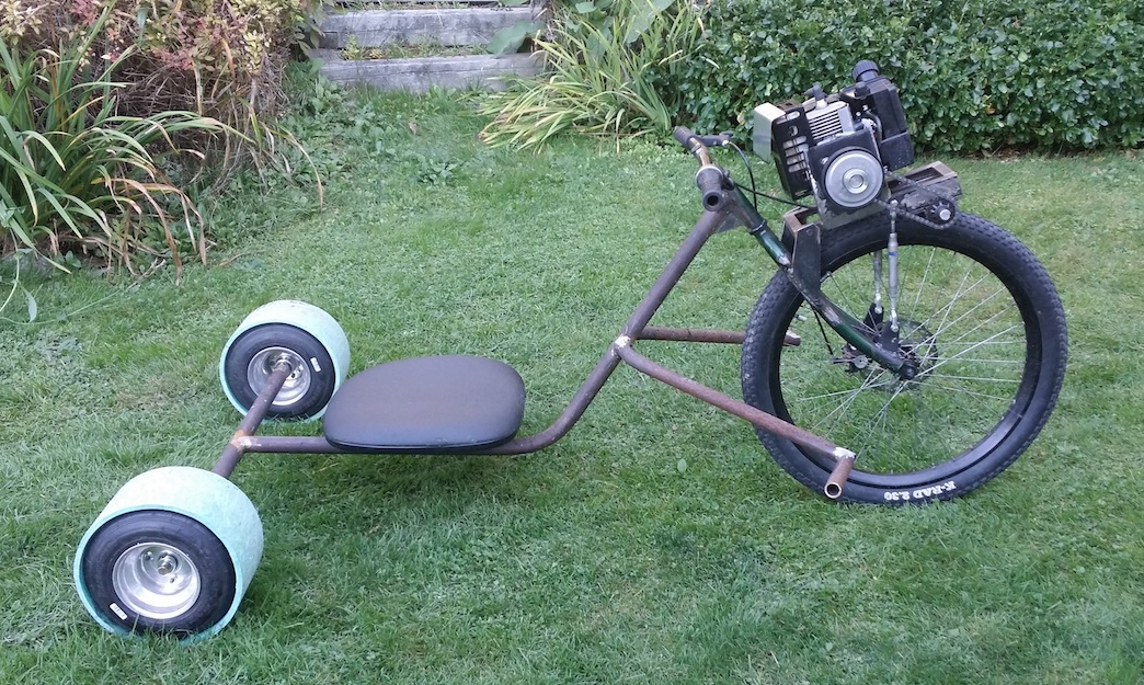Allan S Motorized Rat Rod Drift Trike Make