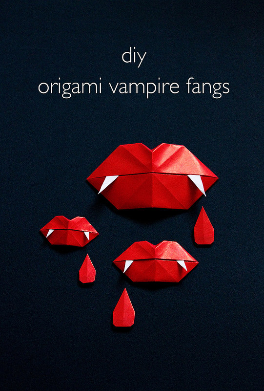 How-To: Vampire Fang Origami Lips