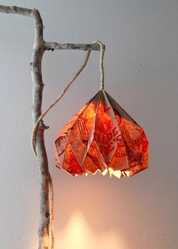 How-To: Paper Bag Pendant Lamp