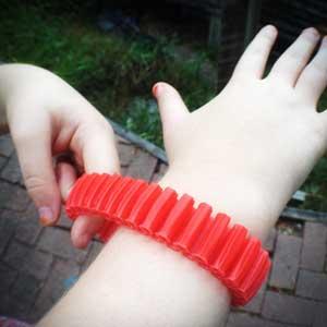 ABS is great for bracelets since it flexes