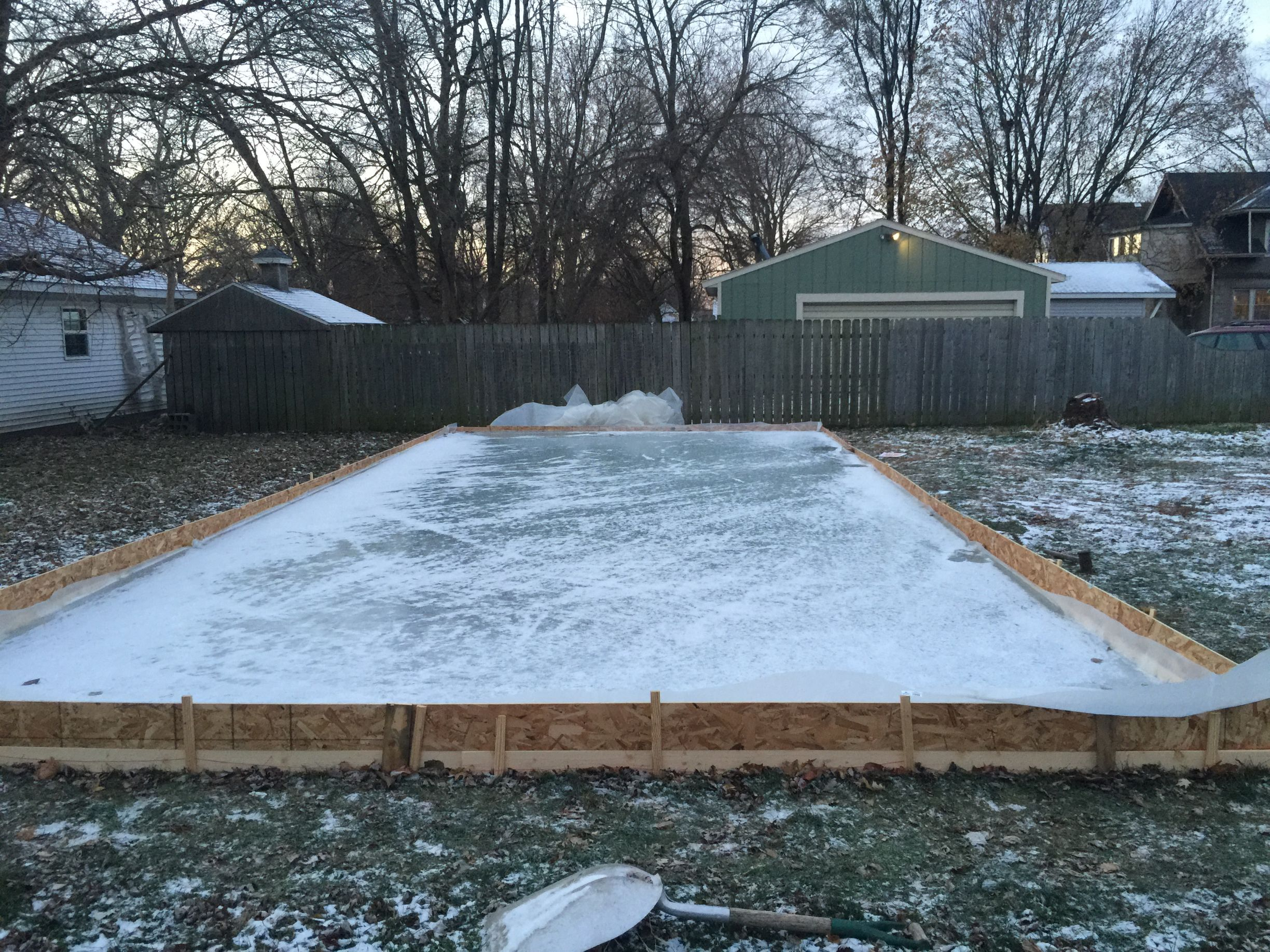 Diy Backyard Ice Rink Make