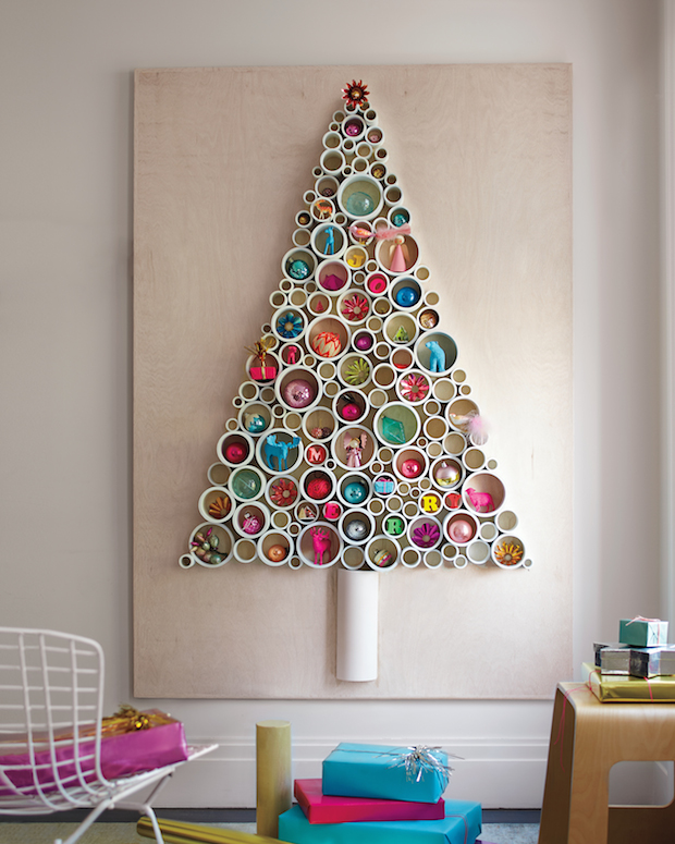 make yourself a stylish modern christmas tree check out this neat diy pvc pipe christmas tree tutorial from martha stewart - Christmas Decorations To Make Yourself