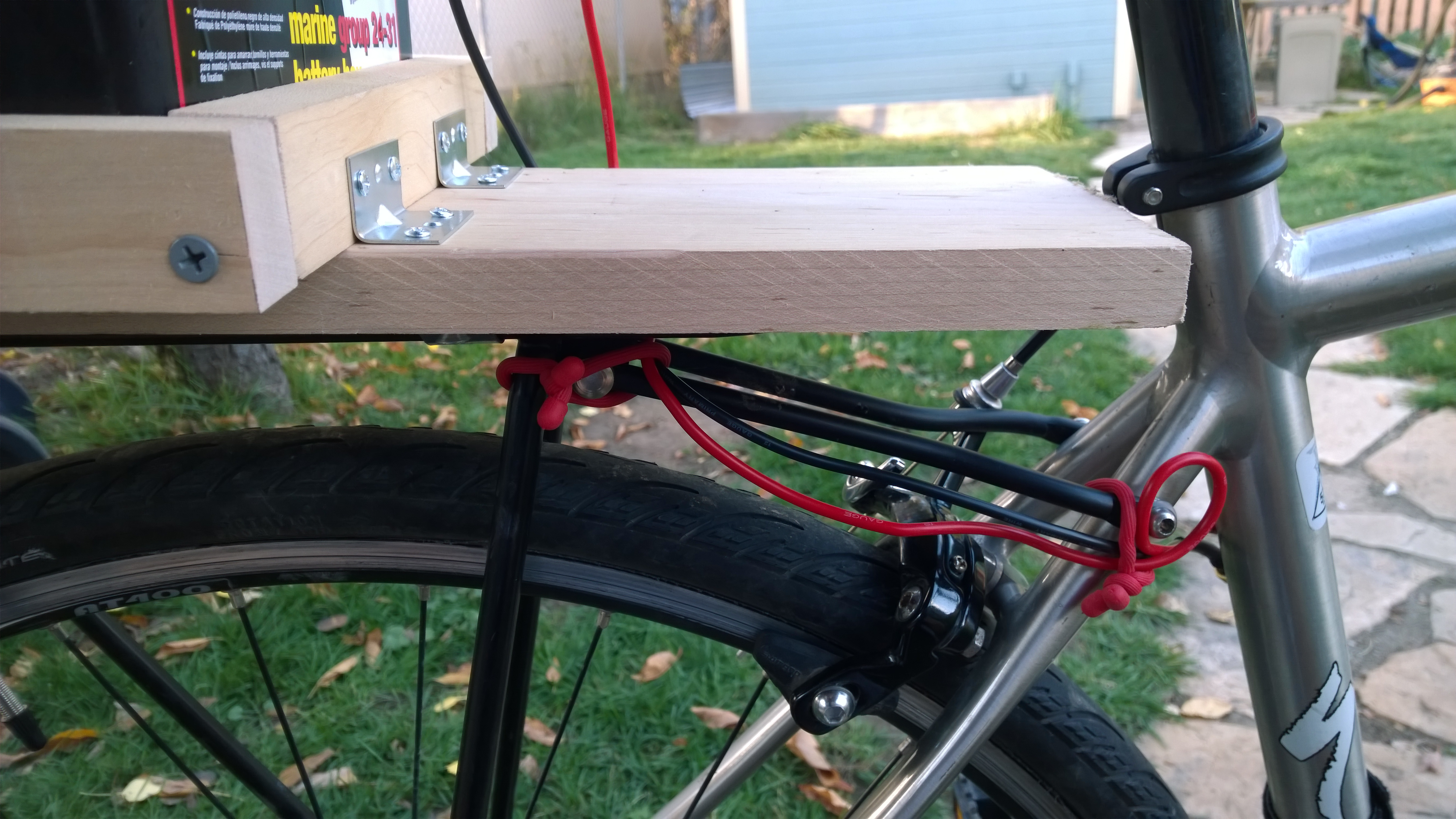 How i built my first electric bike make side view of custom wood top mounting plate attached to rack solutioingenieria Image collections