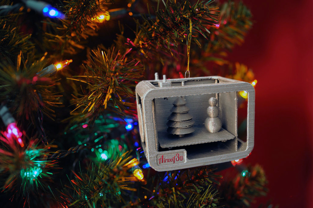 This is an image of Modest 3d Print Christmas Ornaments