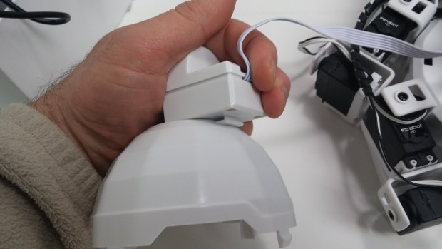 EZ-Bits attach with Clip'n'Play connectors.