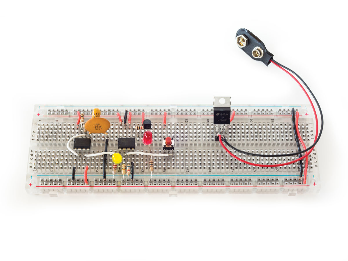 How To Use Digital Potentiometers Control Light And Sound Make Build Simple Volume Figure D The Previous Circuit Has Been Modified A Red Led Through Its Full Range Of Brightness