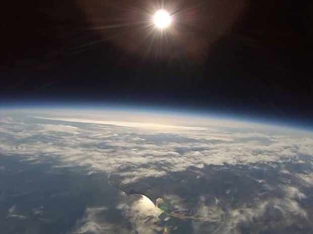 On the 19th April at 9:00am (GMT) we launched our High Altitude Balloon from Inverness in the Scottish Highlands, it reached an altitude of 100,018 ft in 108min, recording a min temperature of -40C and a min air pressure of 14.2 millibars.