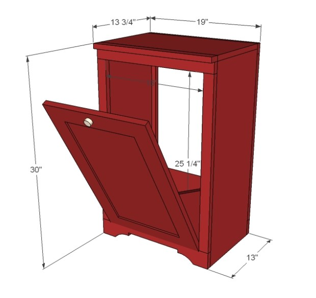 discount wood trash bin cabinet plans free tilt out 1