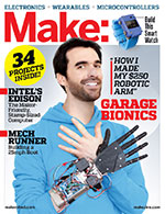 For more on microcontrollers and wearables, check out Make: Volume 43. Don't have this issue? Get it in the Maker Shed.