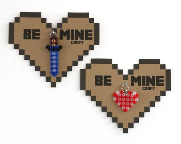 minecraft valentine - cards