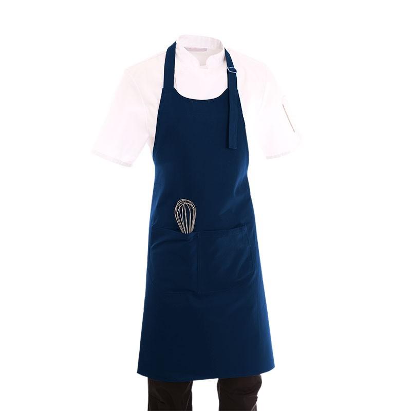 tablier de cuisine a bavette bleu marine toptex