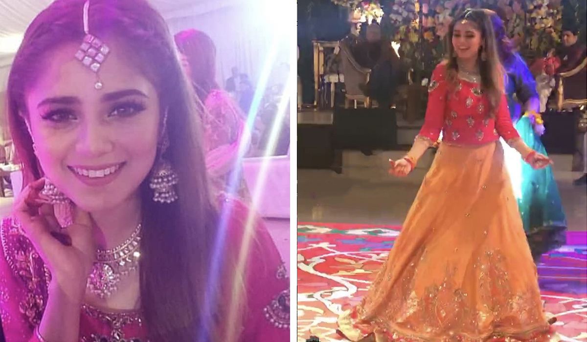 Image result for AIMA BAIG AT HER SISTER MEHNDI