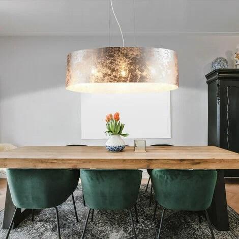 21 watt led design pendel leuchte stoff hange lampe glanzend decken beleuchtung