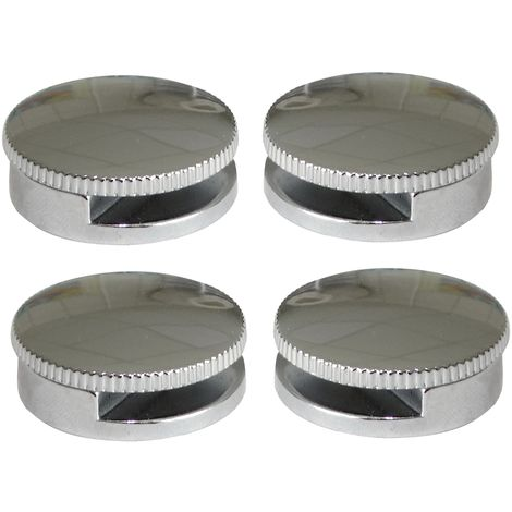 4 Console Patte Support Rond Mural Fixation De Miroir Glace En Metal Chrome 180 O30mm C41665x4