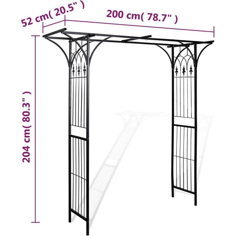 arche de jardin 200 x 52 x 204 cm