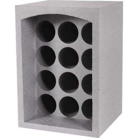 casier polystyrene 12 bouteilles eda gris