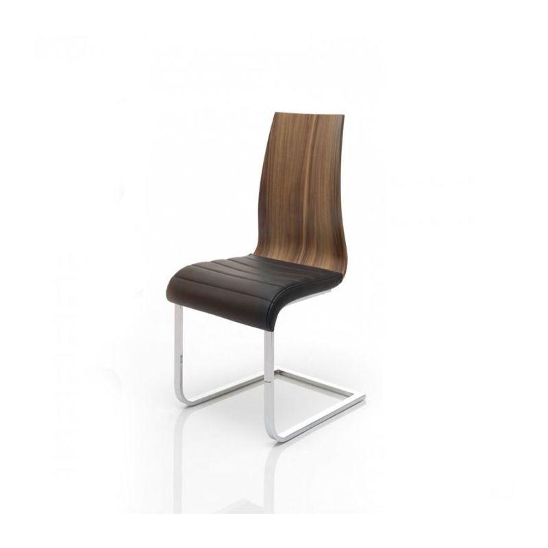 chaise bois design contempo noyer interieur noyer